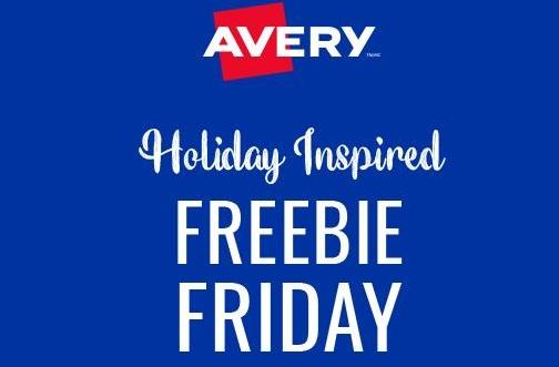 Avery Holiday Freebie Fridays