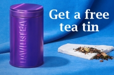 Free DAVIDsTEA Tea Tin with purchase
