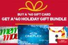 Cineplex Holiday Gift Bundles 2016