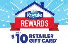 Royale Rewards Retailer Gift Card Offer