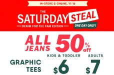 Today Only! Jeans, Tees & Cozy Grippers