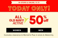Today Only! Half Off Active Wear