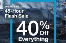 GAP Flash Sale – 50% Off Everything