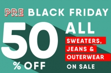 Old Navy – 50% off Jeans, Sweaters & Outerwear