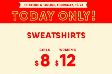Today Only! $8 & $12 Sweaters