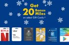 Get 20 Bonus Air Miles on Gift Cards at Shell
