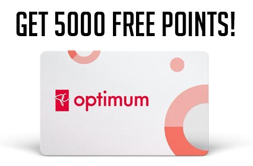 Get 5000 Free PC Optimum Bonus Points