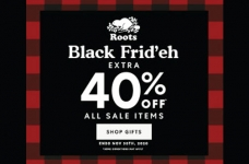 Roots Black Friday / Cyber Monday Sale