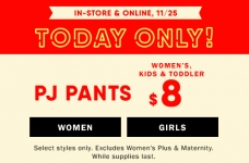 Today Only! $8 PJ Pants