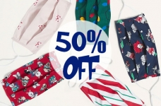 Save 50% off Reusable Masks (even Holiday themed!) at Old Navy