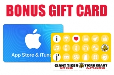 Apple Gift Card Giant Tiger Bonus Offer