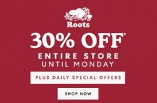 Roots Black Friday Sale + One Day Deals