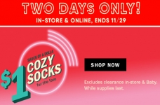 Get $1 Cozy Socks at Old Navy