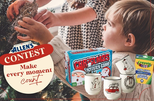 Allen's Canada Contest | Holiday Giveaway + Win a Grocery Gift Basket Contest