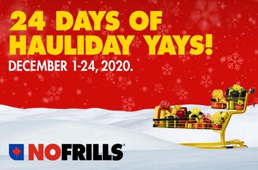No Frills 24 Days of Hauliday Yays!