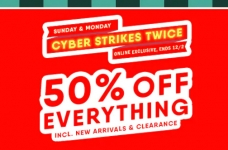 Old Navy Cyber Monday 50% Off Everything + Daily Deal