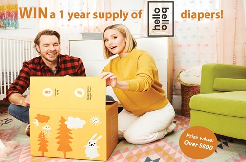 Win a Year Supply of Hello Bello Diapers