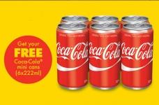 Free Coca-Cola Mini Cans Coupon