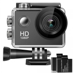 170° Wide Angle Lens 4K Full HD 2 Inch LCD 98Ft Waterproof Screen Action Camera