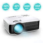GooBang Doo ABOX T22 Mini Portable Projector,1080p HD Multimedia Home Theatre LCD Projector