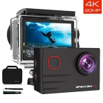 Apexcam EIS 4K 20MP WiFi 170° Wide-Angle Ultra HD Action Camera + Accessories