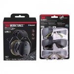 3M Worktunes Connect Bluetooth Hearing Protection with 3M Pro SecureFit 400 Eye Protection Safety Glasses Bundle