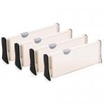 Good Love 4-Pack Adjustable Drawer Dividers Organizer Separators