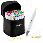 Ohuhu Double Tipped Alcohol Brush Sketch Markers, 48 Colors