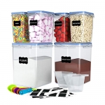 6 Pack Airtight Food Storage Containers (5.2LX2+1.6LX4)