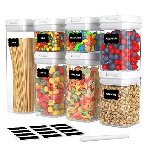 7 Pack Airtight Food Storage Container Set