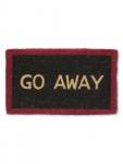 """Abbott Black/Red """"Go Away"""" Doormat"""