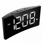PICTEK Digital Alarm Clock with 5-inch Dimmable LED Curved Screen