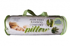 Aloe Vera Bamboo Comfort Pillow with Shredded Memory Foam and Removable Washable Cover Queen