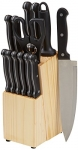 AmazonBasics 14-Piece Knife Set with High-carbon Stainless-steel Blades