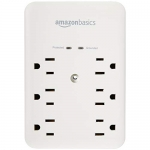 AmazonBasics 6 Outlet Wall-Mount Surge Protector