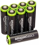 AmazonBasics AA Rechargeable Batteries (8-Pack) Pre-charged – Packaging May Vary