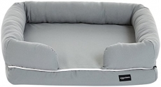 AmazonBasics Small Pet Dog Sofa Bolster Lounger Bed