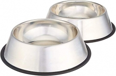 AmazonBasics Stainless Steel Pet Dog Water And Food Bowl Set