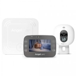 Angelcare 3-in-1 Baby Monitor, with Breathing Movements Tracking, 4.3'' Video, Sound & Temperature Display on Camera