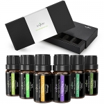 Anjou 6 Packs 10 ml Essential Oils Set, 100 Pure Top 6 Aromatherapy Oils Basic Sampler Gift Kit