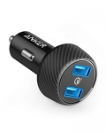 Anker Quick Charge 3.0 39W Ultra-Compact 2-Port Car Charger PowerDrive Speed 2