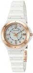Anne Klein Women's AK/2198RGWT Crystal Accented White Ceramic Bracelet Watch