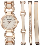 Anne Klein Women's Quartz Metal and Alloy Dress Watch, Color:Rose Gold-Toned