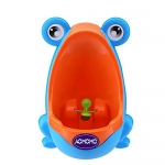 AOMOMO Frog Potty Training Urinal with Funny Aiming Target, Blue