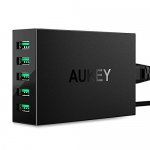 AUKEY 5-Port USB Charging Station with 50W/10A Output USB Charger