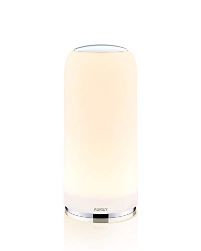 AUKEY Bedside Lamp Touch-Sensitive Table Lamp with Dimmable Warm White Light