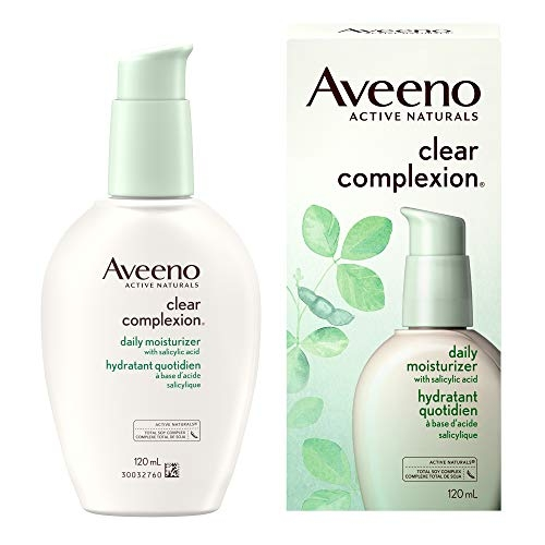 Aveeno Clear Complexion Acne Face Moisturizer for Sensitive Skin, 120 mL