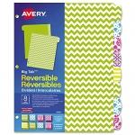 Avery Big Tab Reversible Paper Dividers for 3-Ring Binders, 8 Tabs, 1 Set, Brights