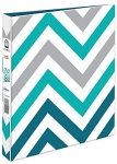 Avery Durable Fashion Binder, 1″ Round Rings, Zig Zag Pattern
