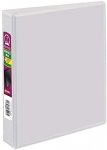 Avery Durable View 3 Ring Binder, 1 Inch, Round Rings, 5.5 Inch x 8.5 Inch, White